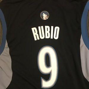 adidas Shirts - Ricky Rubio Minnesota Timberwolves NBA jersey 9a81b50a6